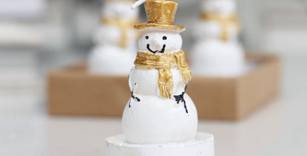 Set Of Four Snowman Candles