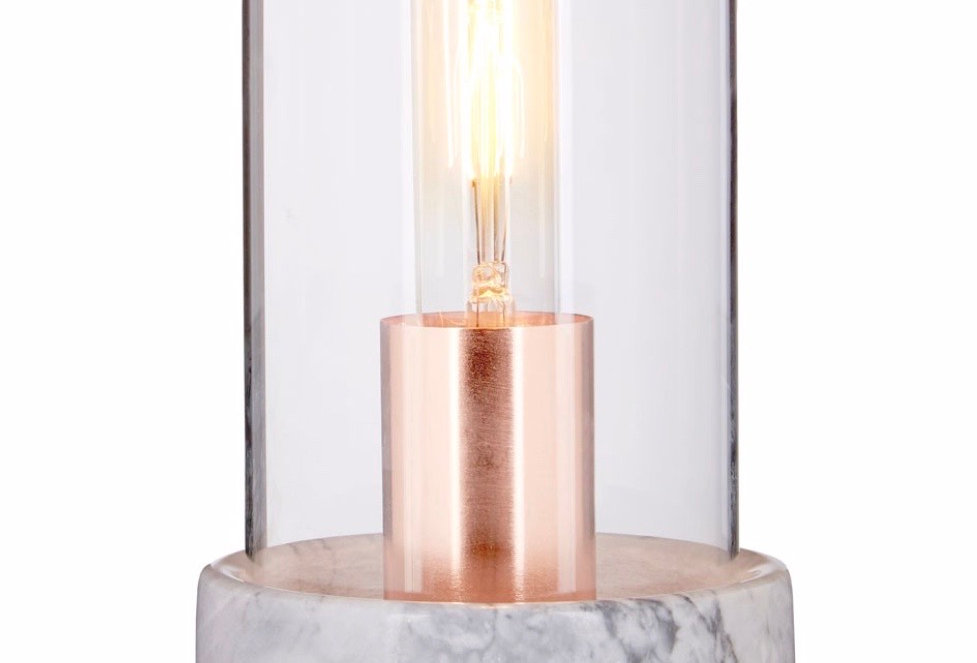 Bell Lamp With Grey Marble Base