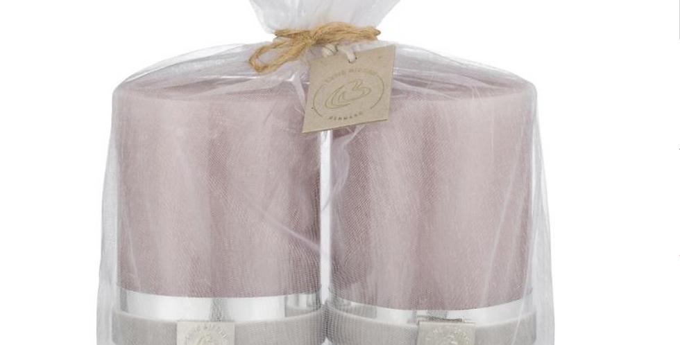 Lene Bjerre Dusty Aubergine Candles - Set