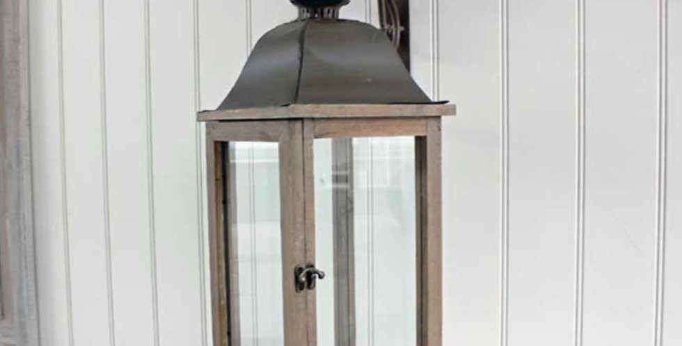 Antique Wooden Hanging Lantern