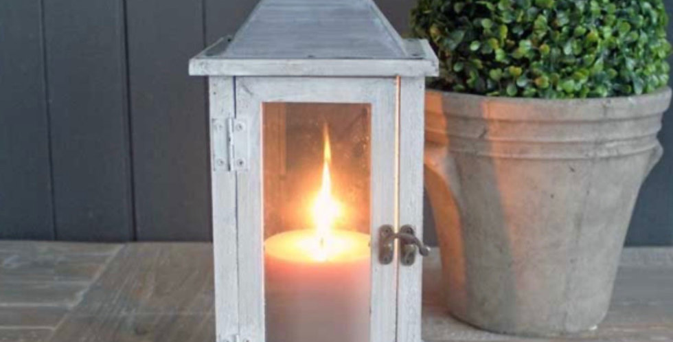 Wooden Antique Washed Lantern