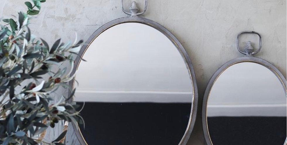 Viscount Metal Hanging Mirror