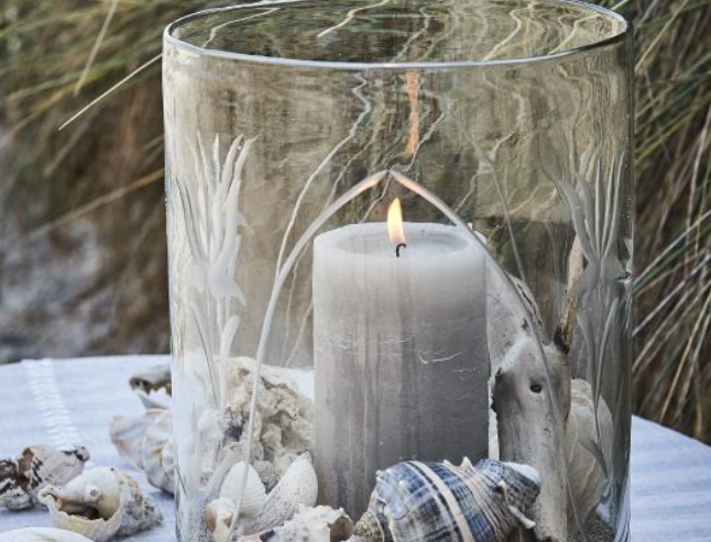 Lene Bjerre Rustic Light Grey Pillar Candle
