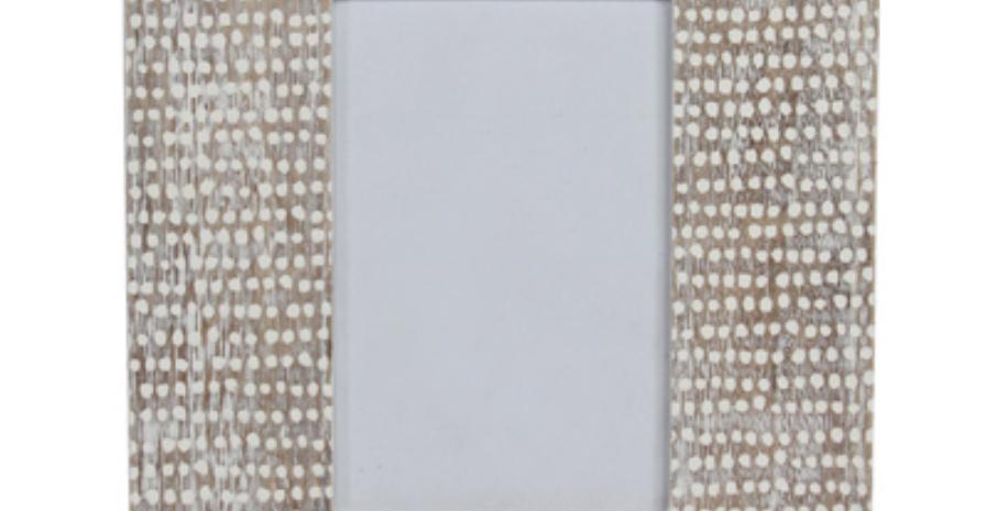 Lime Wash Dot Design Wood Picture Frame