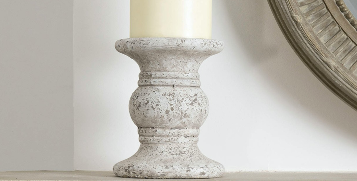 Birkdale Small Stone Candle Holder