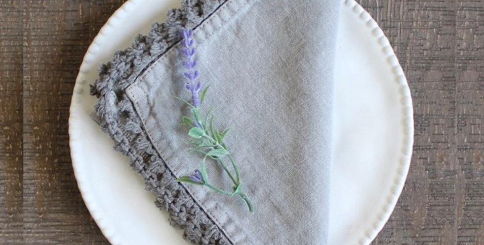 Grey Linen Napkin - Set Of Four