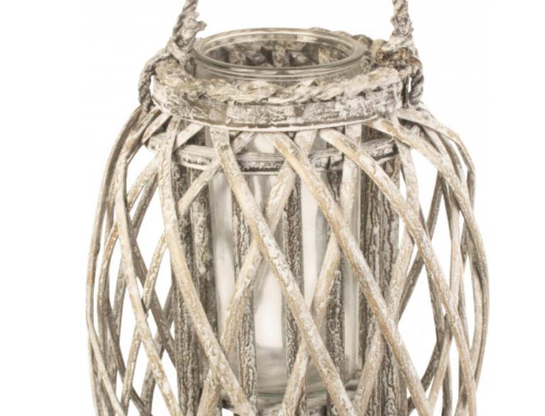 Small Grey Wash Willow Lantern