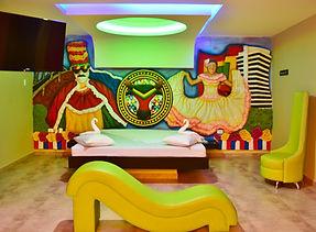 Habitación Faraón en el Motel Indiana
