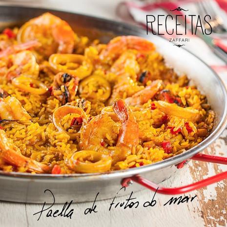 Receitas Zaffari - Paella de Frutos do Mar.