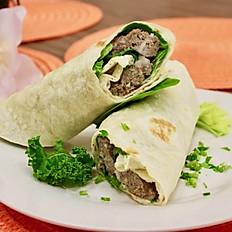 Mediterranean Style Beef Kebab Wrap