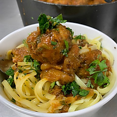 Vegan Meatballs with Vegan/Gluten Free Pasta