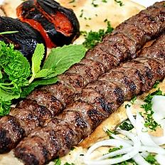 Beef Kebab + Salad or Rice
