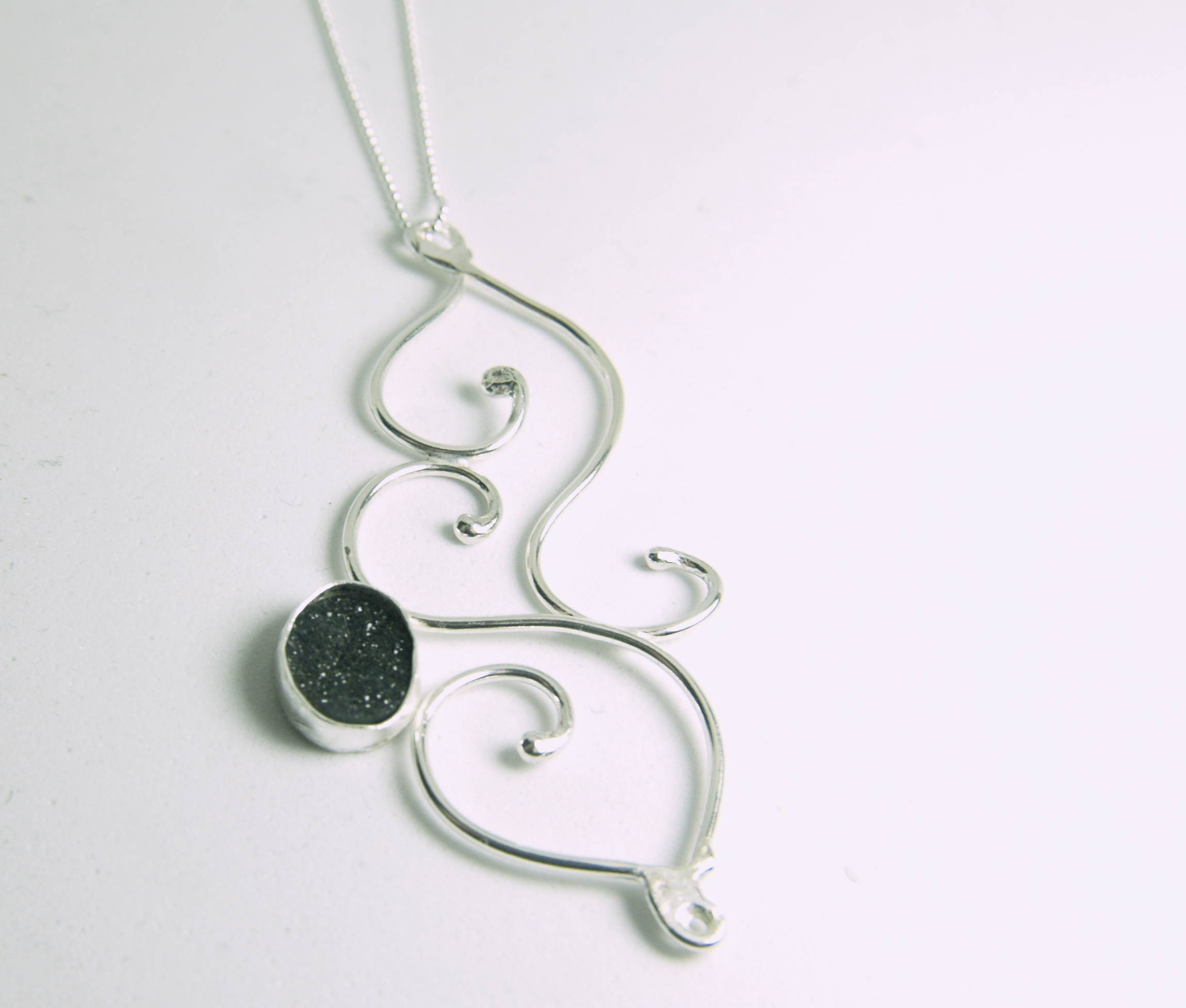 druzy tendril necklace 2