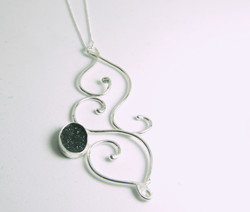 druzy tendril necklace 2
