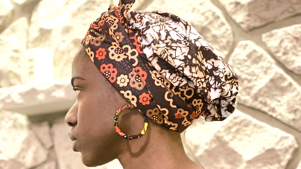 Ankara Bonnet with Band
