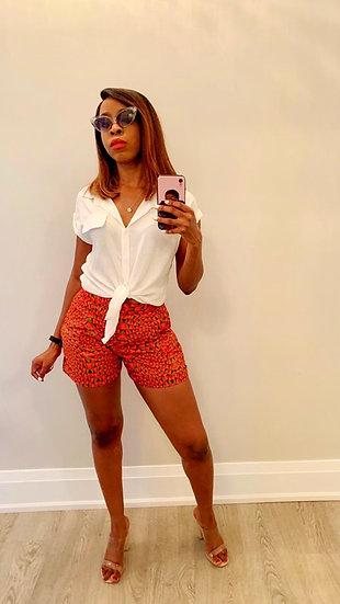 Turn up Ankara Shorts