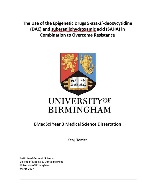 Kenji's Biomedical Science Dissertation