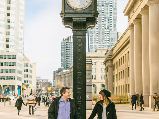 Lissa and Sam - Engagement Shoot in Union Station