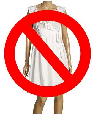 Wearing a white dress to a Wedding, NO