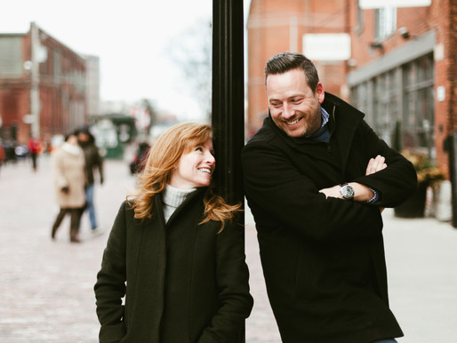 Lisa and Chris - Engagement Shoot in the Distillery District