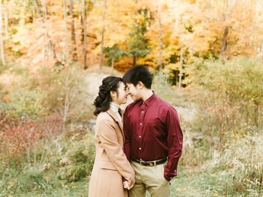 Charis and Joseph - Fall Engagement Shoot in Toronto