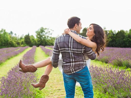 Christine and Basem - Engagement in a Lavender Farm