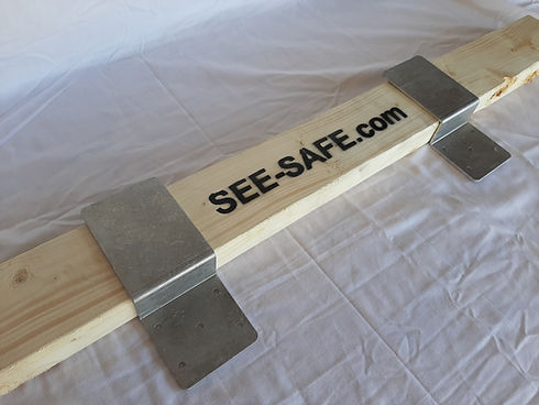See Safe Security Door 2x4 Bracket Aluminum 3 inch CodyCo Barricade 10.jpg