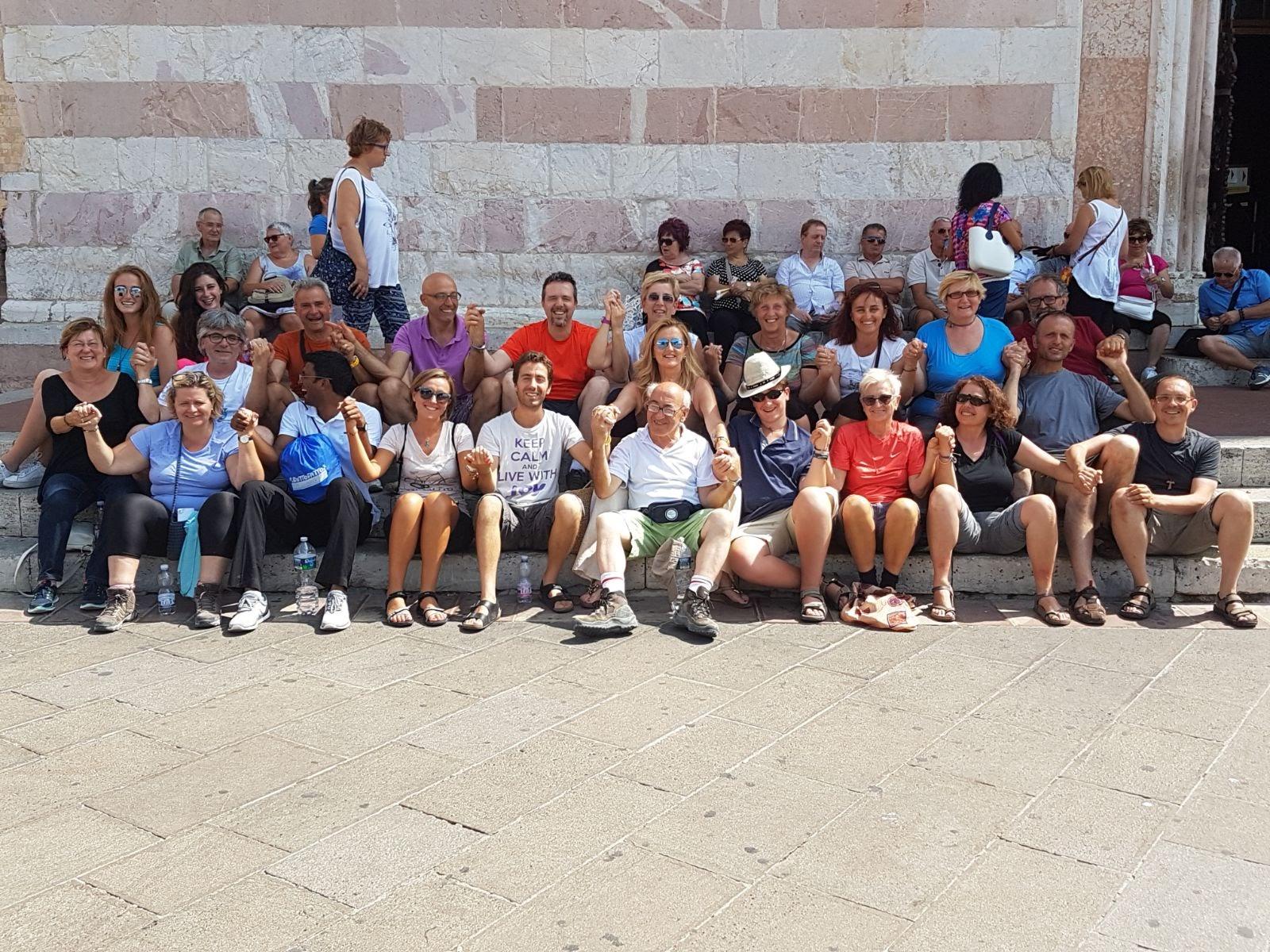 foto di gruppo ad Assisi
