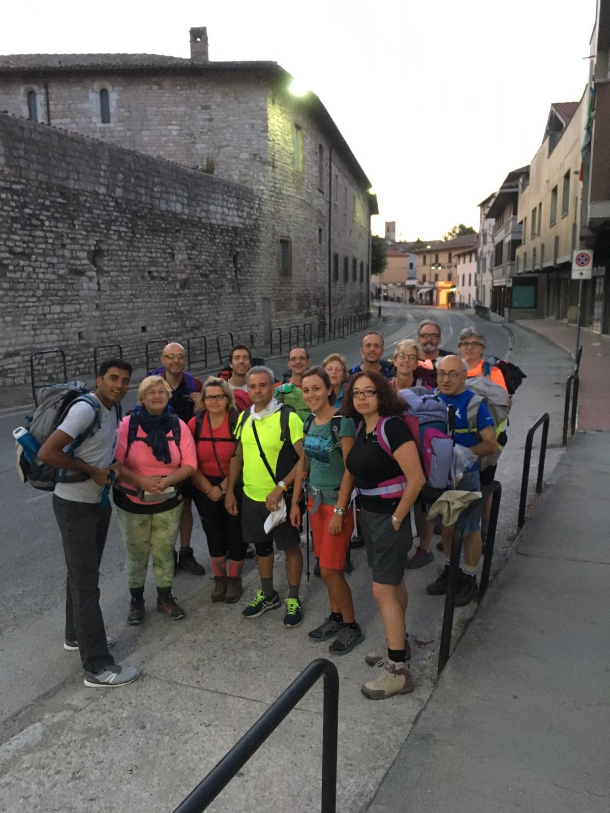 in partenza da Gubbio