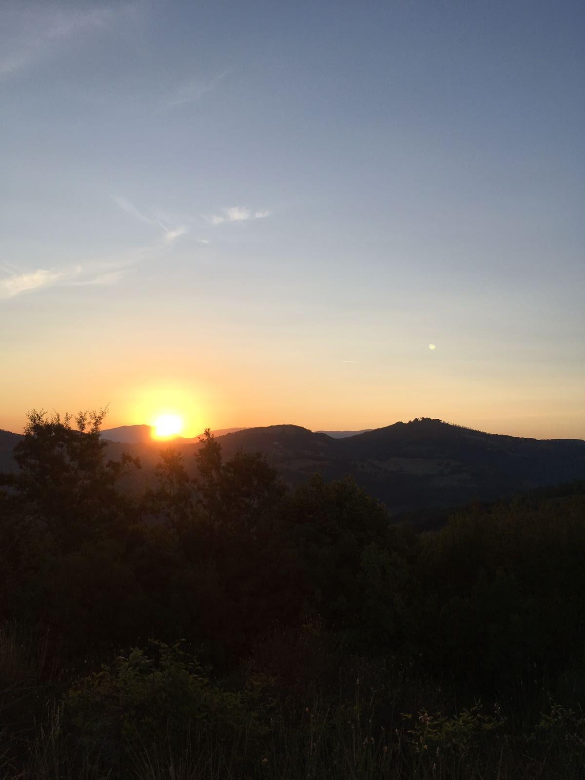 il sorgere del sole