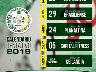 CALENDÁRIO TENTATIVO 2019