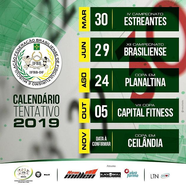 Calendario Fitness 2019.Calendario Tentativo 2019