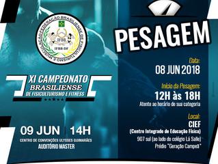 PESAGEM OFICIAL XI CAMPEONATO BRASILIENSE