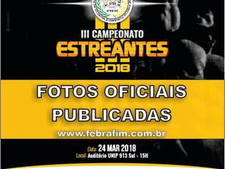 Fotos oficiais do III Campeonato Estreantes