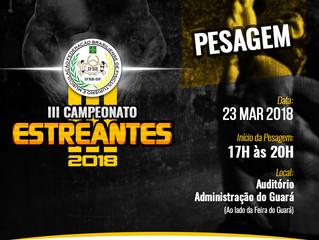 Pesagem Oficial - Campeonato Estreantes  IFBBDF