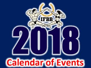 Calendário IFBB 2018