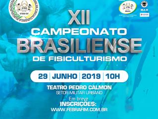 XII CAMPEONATO BRASILIENSE DE FISICULTURISMO