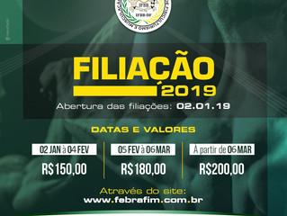 FILIAÇÃO 2019