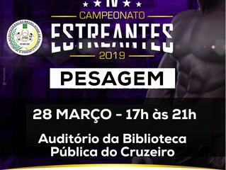 IV CAMPEONATO ESTREANTE-Pesagem oficial dos atletas