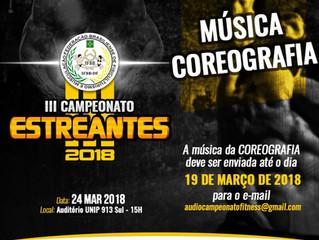 Música e Coreografia - Campeonato Estreantes 2018