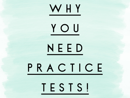 Are you doing Practice Tests this weekend?  You should be!