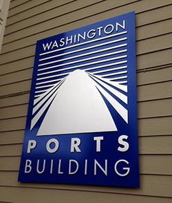 Washington Ports Bldg Sign