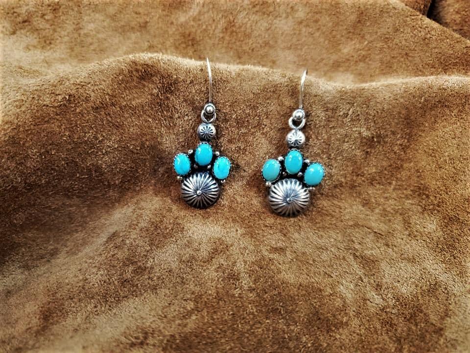 Navajo Oscar Alexius TurquoiseEarrings