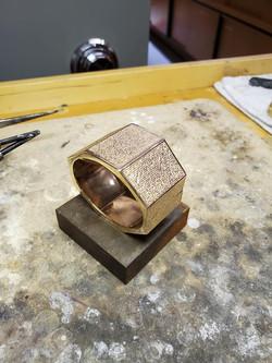 Textured Hinged Bracelet