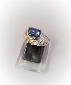 2.50ct Tanzanite .20ctw Diamonds