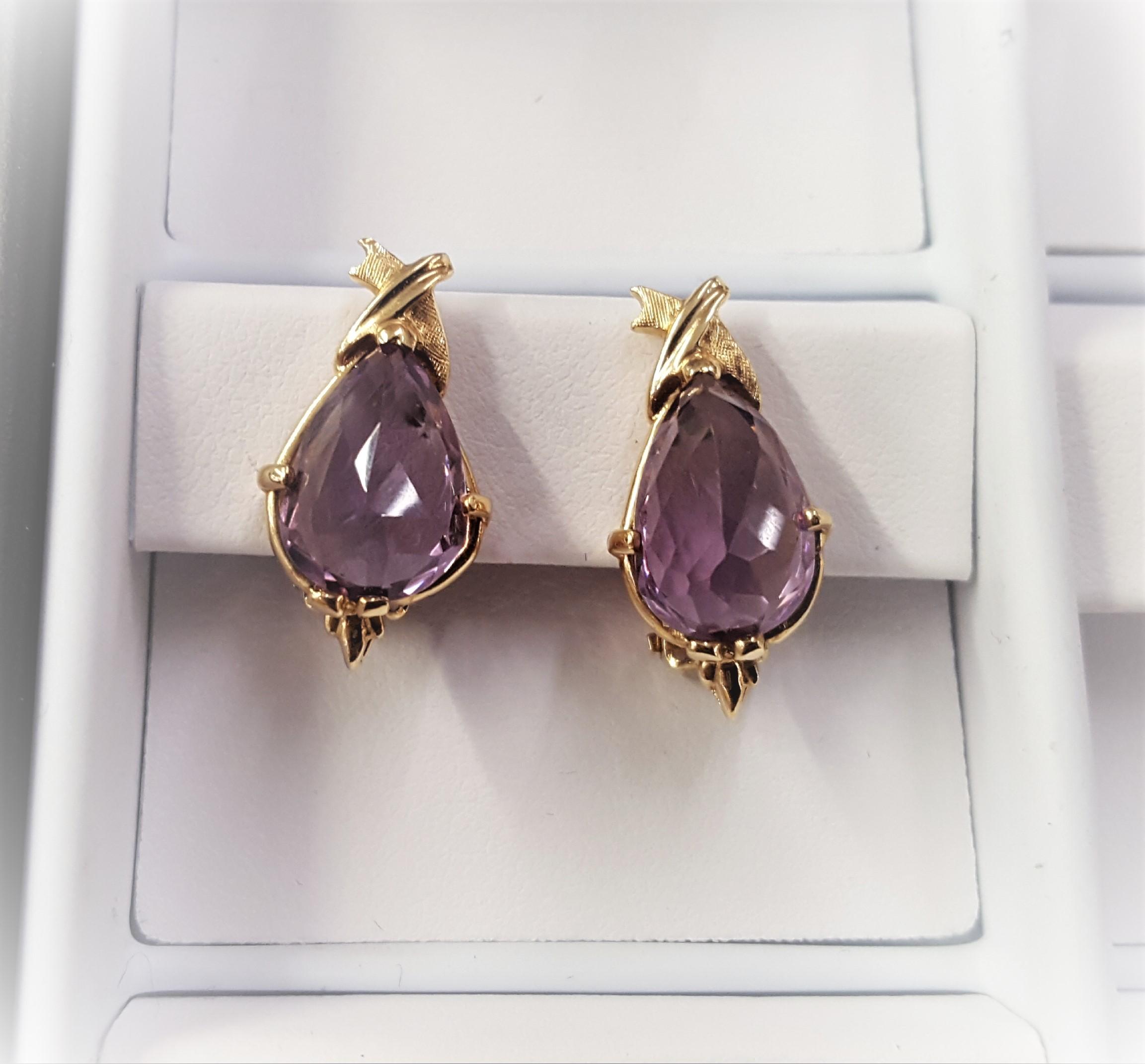Amethyst Briolette Cut Earrings