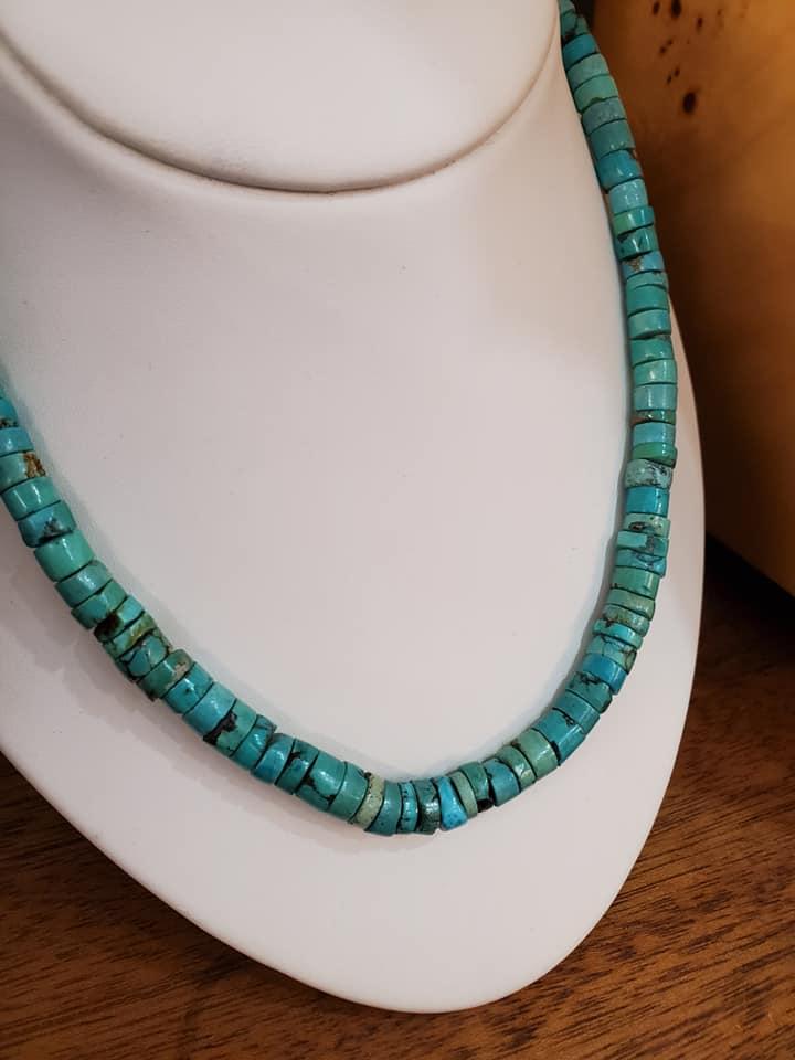 """18"""" Turquoise Heishi Bead Necklace"""