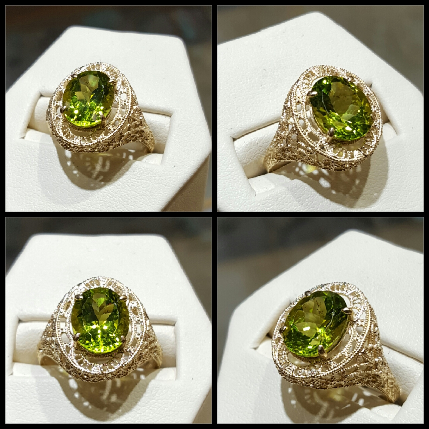Peridot Filigree Setting