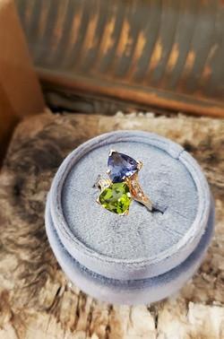 Peridot & Iolite Diamond Accents