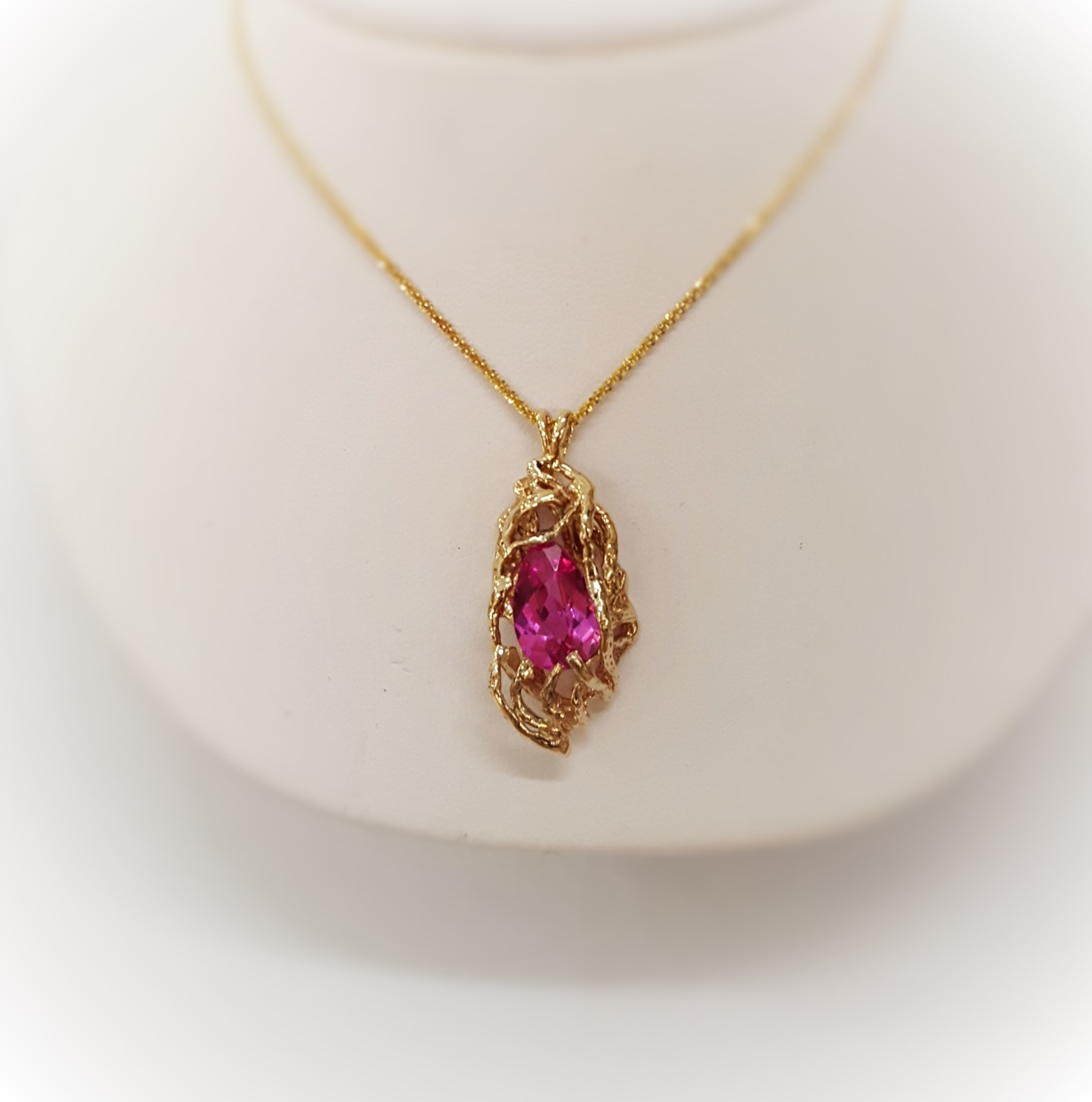 Chatham Pink Sapphire Pendant